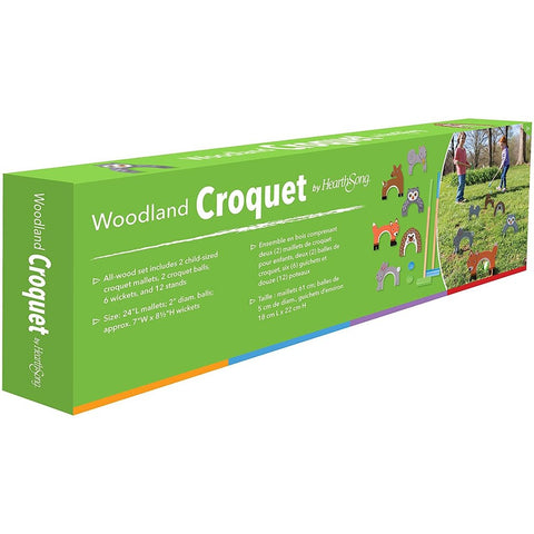 Hearthsong Woodland Croquet Set