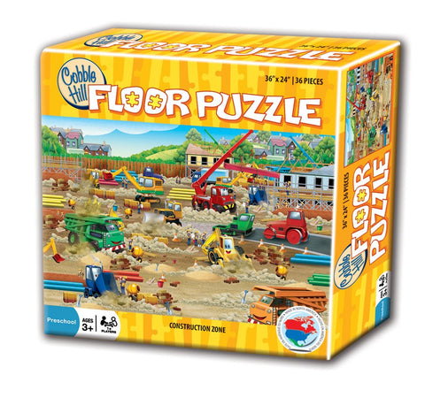 Cobble Hill Construction Zone Floor Puzzle 36pc
