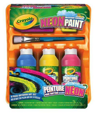 Crayola Neon Washable Sidewalk Paint Tray
