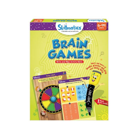 Brain Games - Write & Wipe Activity Mats