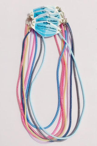 Spiral Mask Lanyard - Teens/Adults Assorted Colours
