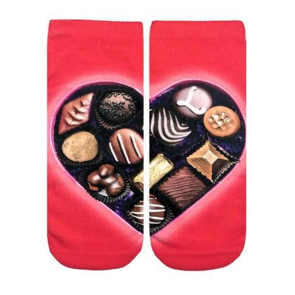 Living Royal Ankle Socks Valentines Styles