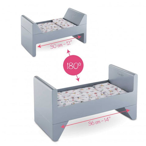 "Crib and Bed for 12"" / 14"" / 17"" Baby Doll"