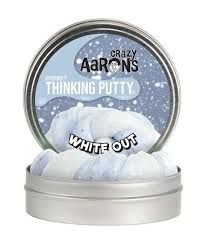 Crazy Aaron's White Out Hyperdot Thinking Putty