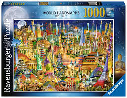 Ravensburger World Landmarks By Night 1000 Piece Puzzle