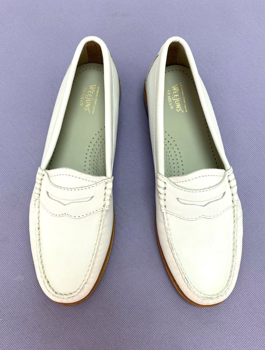 Penny loafer White