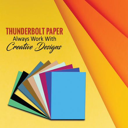 Thunderbolt Paper Always Work With Creative Designs