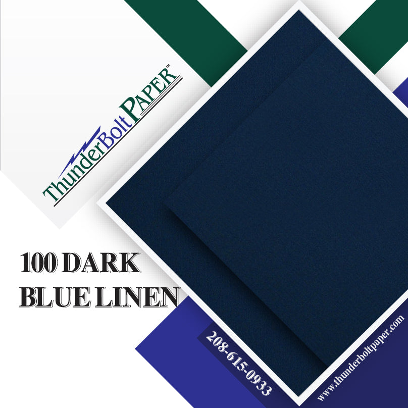 "100 Dark Blue Linen 80# Cover Paper Sheets - 4"" X 6"" (4X6 Inches) Photo