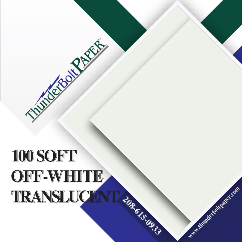 "100 Soft Off-White Translucent 17# Thin Sheets - 4"" X 6"" (4X6 Inches) Photo