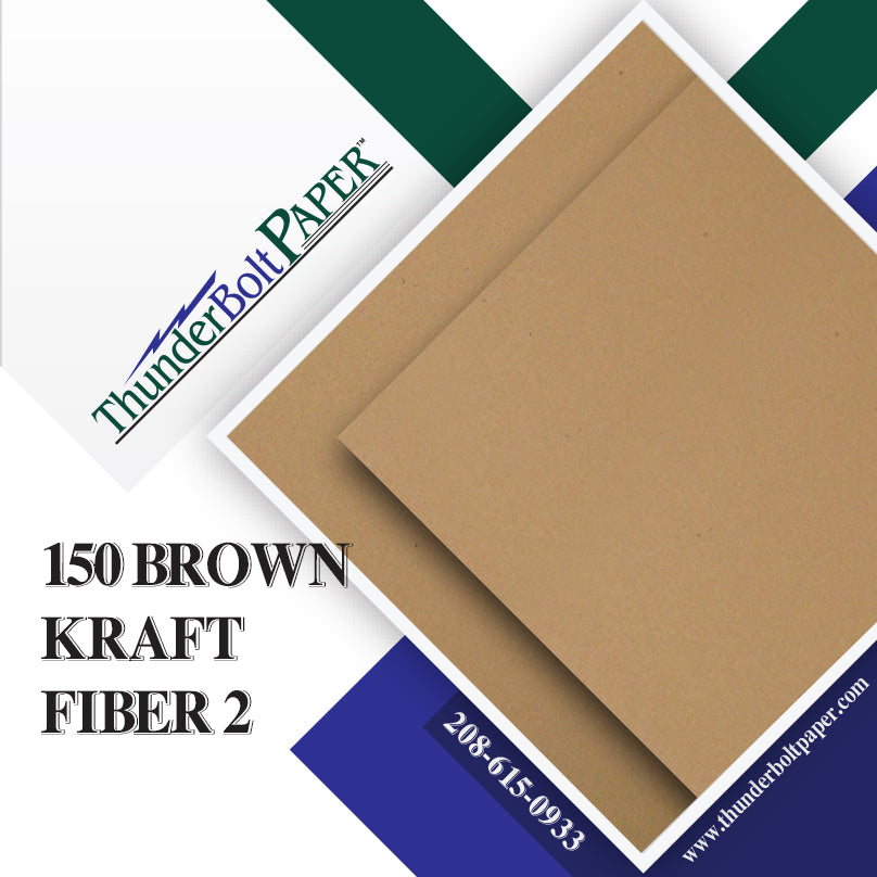 "150 Brown Kraft Fiber 28/70 Pound Text (Not Card/Cover) Paper Sheets - 8.5"" X 11"" (8.5X11 Inches) Standard Letter
