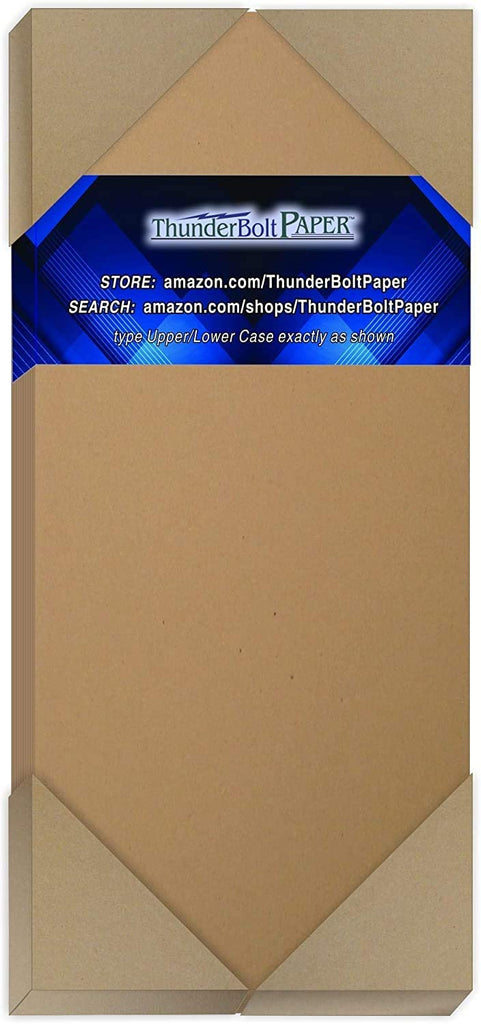 "100 Brown Kraft Fiber 80# Cover Paper Sheets - 5"" X 7"" (5X7 Inches) Photo