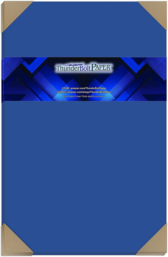 50 Bright Royal Blue Color 65# Cover/Card Paper Sheets 12 X 12 Inches Scrapbook Album Cover Size - 65 lb/pound Light Weight Cardstock - Quality Smooth Paper Surface