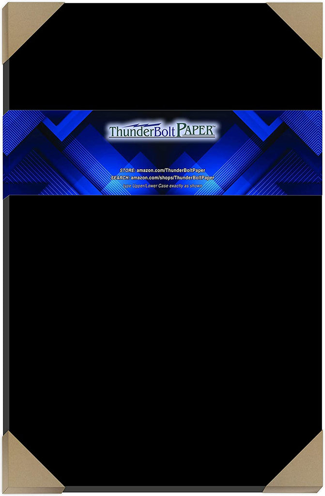 "40 Dark Black Smooth Card Sheets - 100# (100 lb/Pound) - 8.5"" X 11"" (8.5x11 Inches) Letter Size - Cover Weight Fine Paper for Quality Results on a Smooth Finish"