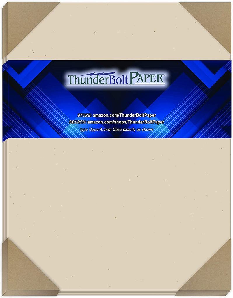 "100 Earthy Driftwood Tan Fiber 80# Cover Paper Sheets - 8.5"" X 14"" (8.5X14 Inches) Legal