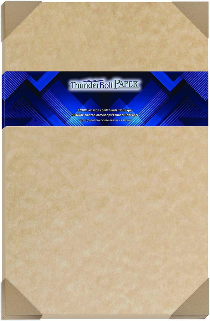 "50 Sandy Brown Parchment 65lb Cover Weight Paper - 11"" X 14"" (11X14 Inches) Scrapbook