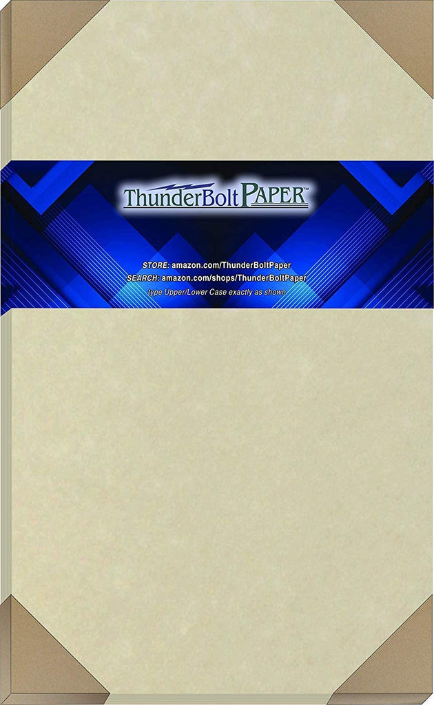 "50 Natural Parchment 60# Text (=24# Bond) Paper Sheets - 11"" X 17"" (11X17 Inches) Tabloid