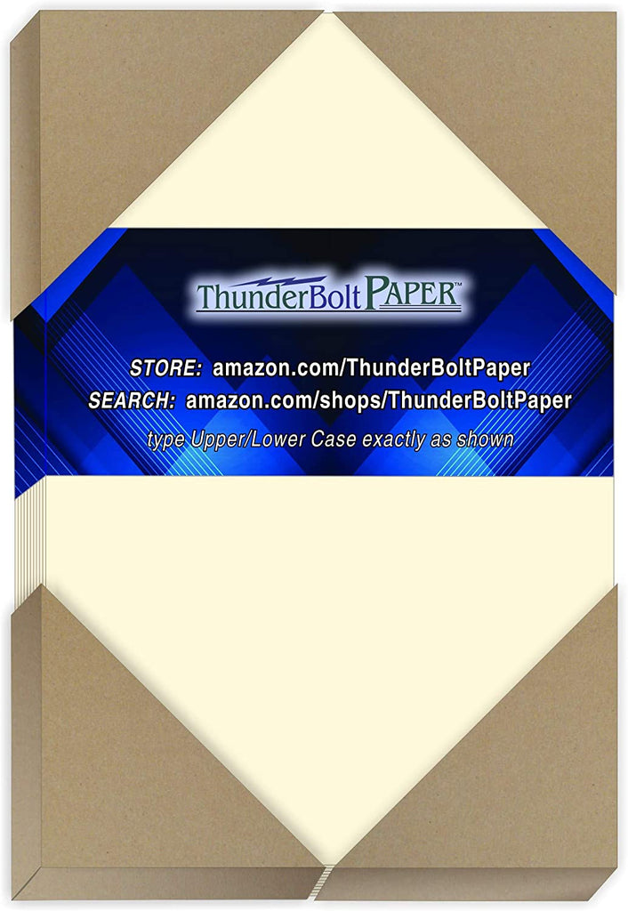 100 Natural Smooth Card Stock Sheets Paper - 8.5 X 14 Inches Legal|Menu Size - 80# (80 lb/Pound) Cover Weight - Quality Paper - Smooth Finish