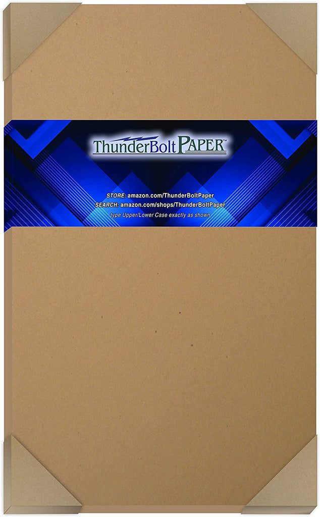 150 Brown Kraft Fiber 28/70 Pound Text (Not Card/Cover) Paper Sheets - 8.5 X 14 Inches - 70 Pound Weight Legal|Menu Size - Rich Earthy Color with Natural Fibers - Smooth Finish