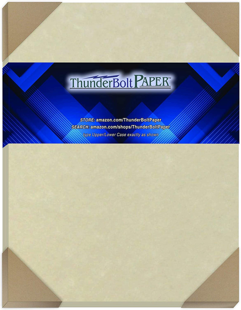 "100 Natural Parchment 65lb Cover Paper Sheets 8.5X14 Inches Cardstock Weight Colored Sheets 8.5"" X 14"" (8.5X14 Inches) Legal
