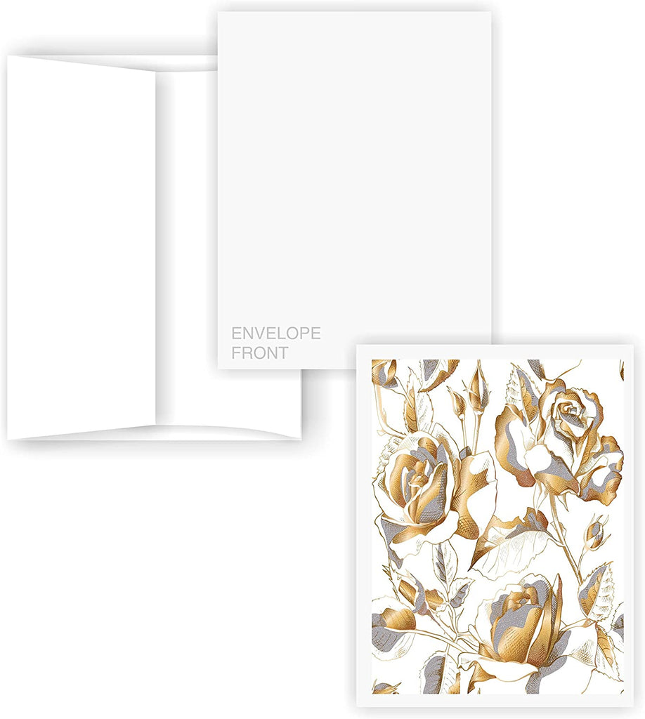 5X7 Blank Cards with A-7 Envelopes - Smooth Bright White - 50 Sets - Silky Finish - Invitations, Greeting, Thank Yous, Notes, Holidays, Weddings, Birthdays, Announcements - 80# Cardstock