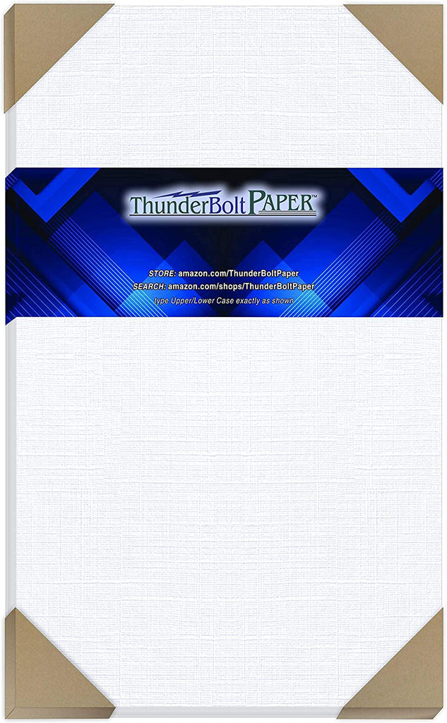 "100 White Linen 80# Cover Paper Sheets - 8.5"" X 11"" (8.5X11 Inches) Standard Letter