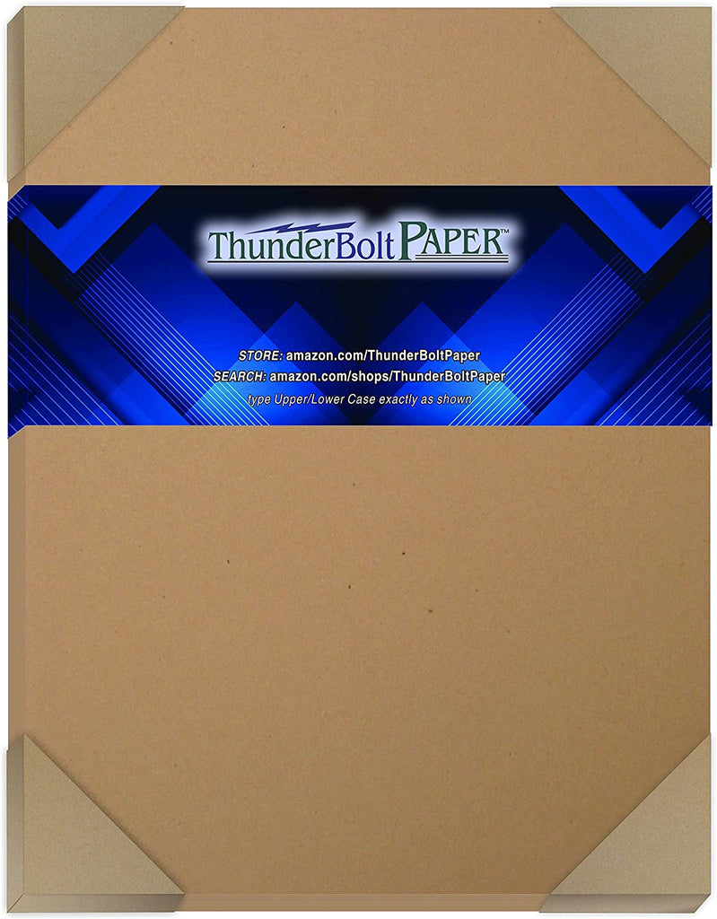 "100 Brown Kraft Fiber 80# Cover Paper Sheets - 8.5"" X 11"" (8.5X11 Inches) Standard Letter