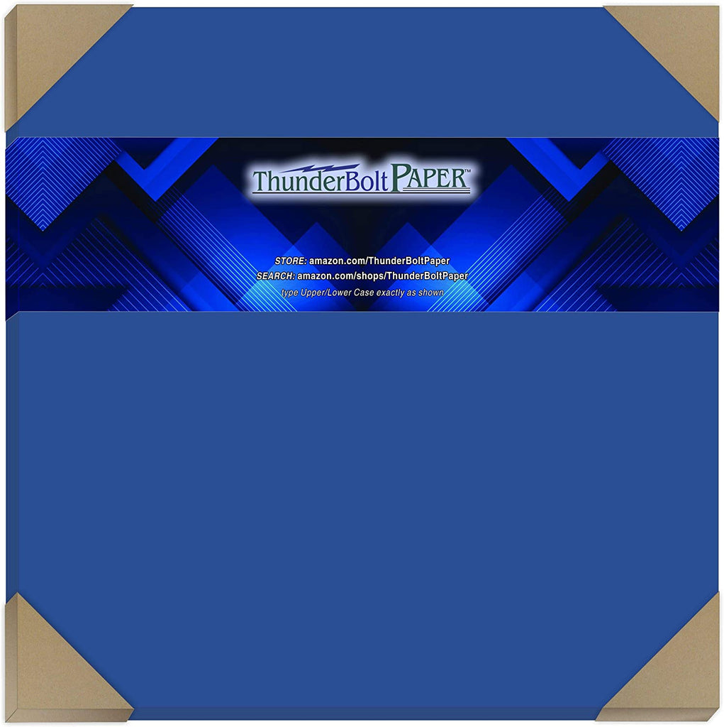 100 Bright Royal Blue Color 65# Cover/Card Paper Sheets 12 X 12 Inches Scrapbook Album Cover Size - 65 lb/pound Light Weight Cardstock - Quality Smooth Paper Surface