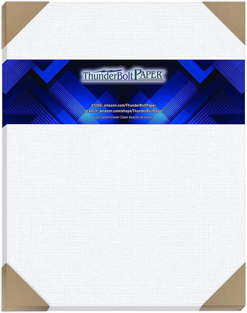 50 Bright White Linen 80# Cover Paper Sheets - 12X12 Inches Square Scrapbook Album Size - 80 lb/Pound Card Weight - Fine Linen Textured Finish Cardstock