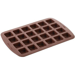 Wilton Brownie Silicone Bite-Size Mold 24 Cavity Square 1.5