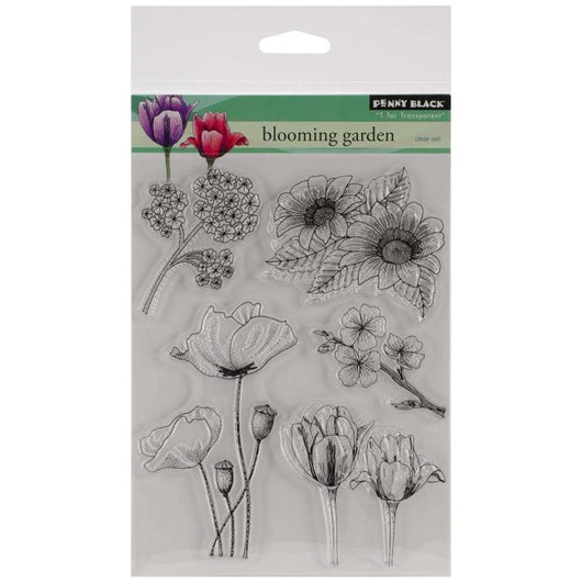 Penny Black Clear Stamps Blooming Garden - A Plus Craft