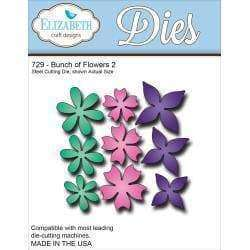 Elizabeth Craft Metal Die Bunch Of Flowers 2, 3