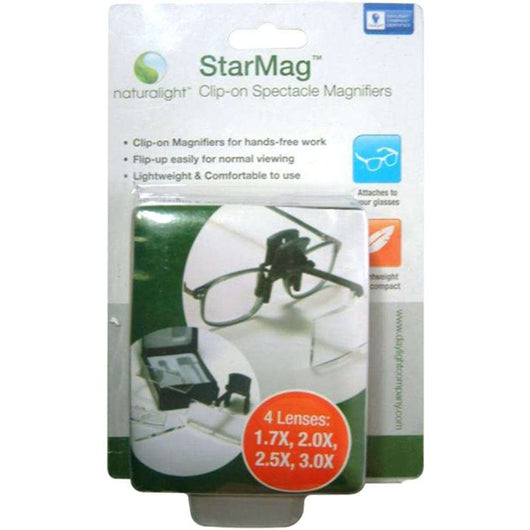 Daylight Naturalight StarMag Clip-On Spectacle Magnifier - A Plus Craft