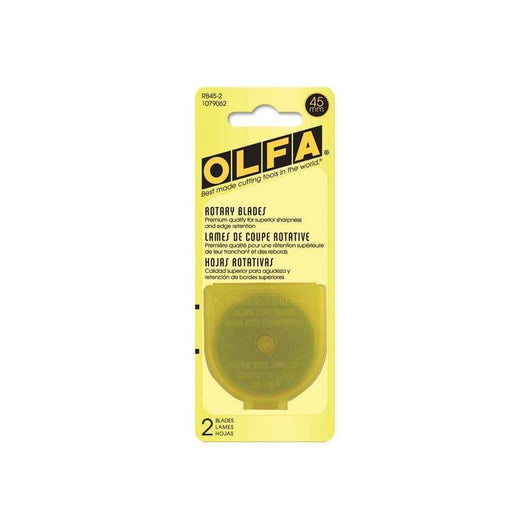 OLFA Rotary Blade Refills 45mm 2/Pkg RB45-2 - A Plus Craft