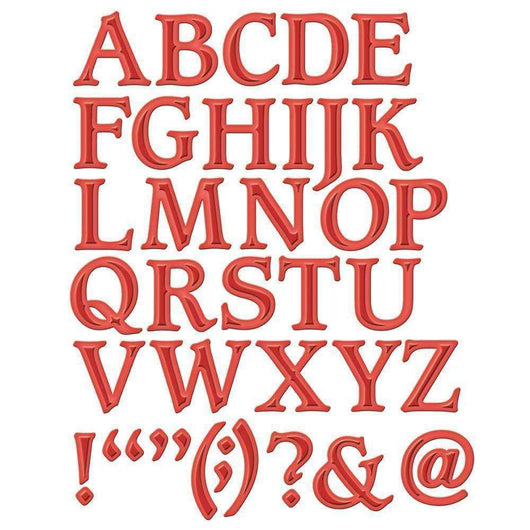 Spellbinders Shapeabilities Dies Font 1 Uppercase - A Plus Craft