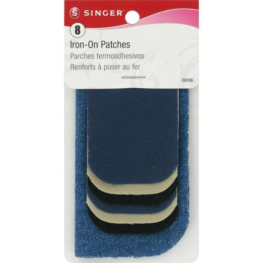 Singer Iron-On Patches Assorted Size 8pcs Assorted Colors - A Plus Craft
