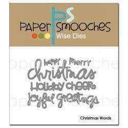Paper Smooches Dies Christmas Words - A Plus Craft