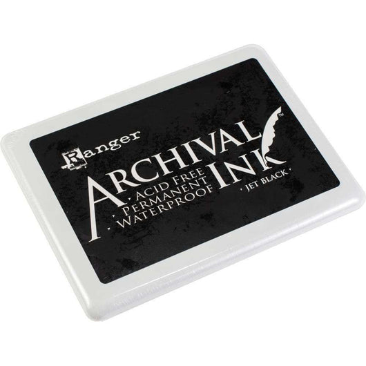 Ranger Archival Ink Jumbo Ink Pad #3 Jet Black - A Plus Craft