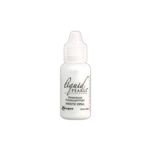 Liquid Pearls Dimensional Pearlescent Paint .5oz White Opal - A Plus Craft
