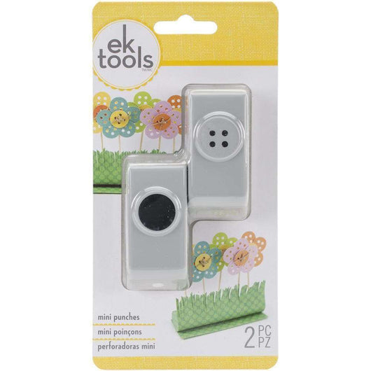 EK Mini Punches 2/Pkg Button & Holes, .67