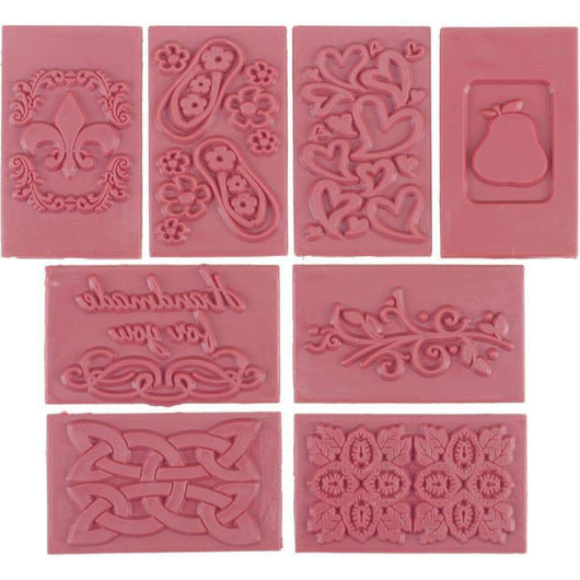 Soap Embossing Stamp Assortment 8/Pkg - A Plus Craft