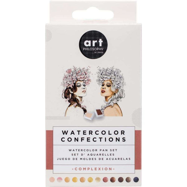 Prima Watercolor Confections Watercolor Pans 12/Pkg Complexion - A Plus Craft