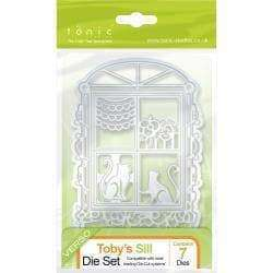Tonic Studios Pet Windows Die Set Toby's Sill - A Plus Craft