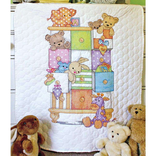 Dimensions/Baby Hugs Quilt Stamped Cross Stitch Kit 34