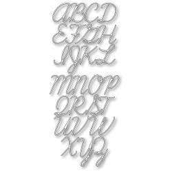 Memory Box Die Script Uppercase Alphabet - A Plus Craft