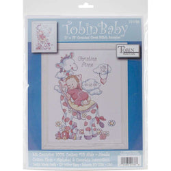 Tobin Counted Cross Stitch Kit 11X14 Giraffe Birth Record (14 Count) - A Plus Craft