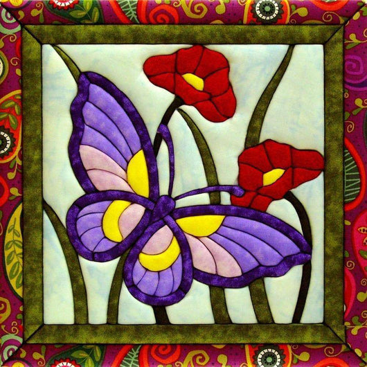Quilt-Magic No Sew Wall Hanging Kit Butterfly - A Plus Craft