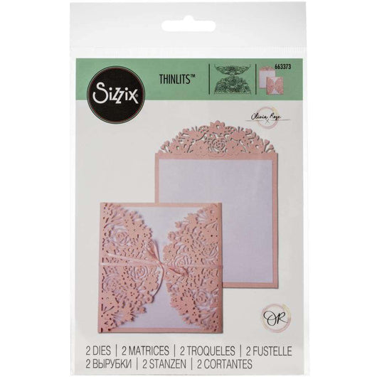 Sizzix Thinlits Dies By Olivia Rose 2/Pkg Floral Edges - A Plus Craft