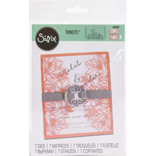Sizzix Thinlits Dies 7/Pkg Floral Wrap - A Plus Craft