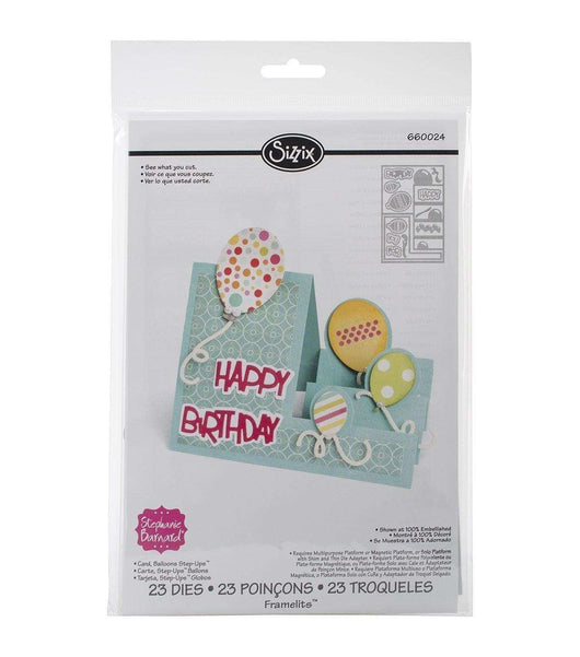 Sizzix Framelits Dies By Stephanie Barnard 23/Pkg Balloons Step-Ups Card - A Plus Craft