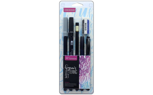 Tombow Dual Brush Pen Set Lettering Beginner - A Plus Craft